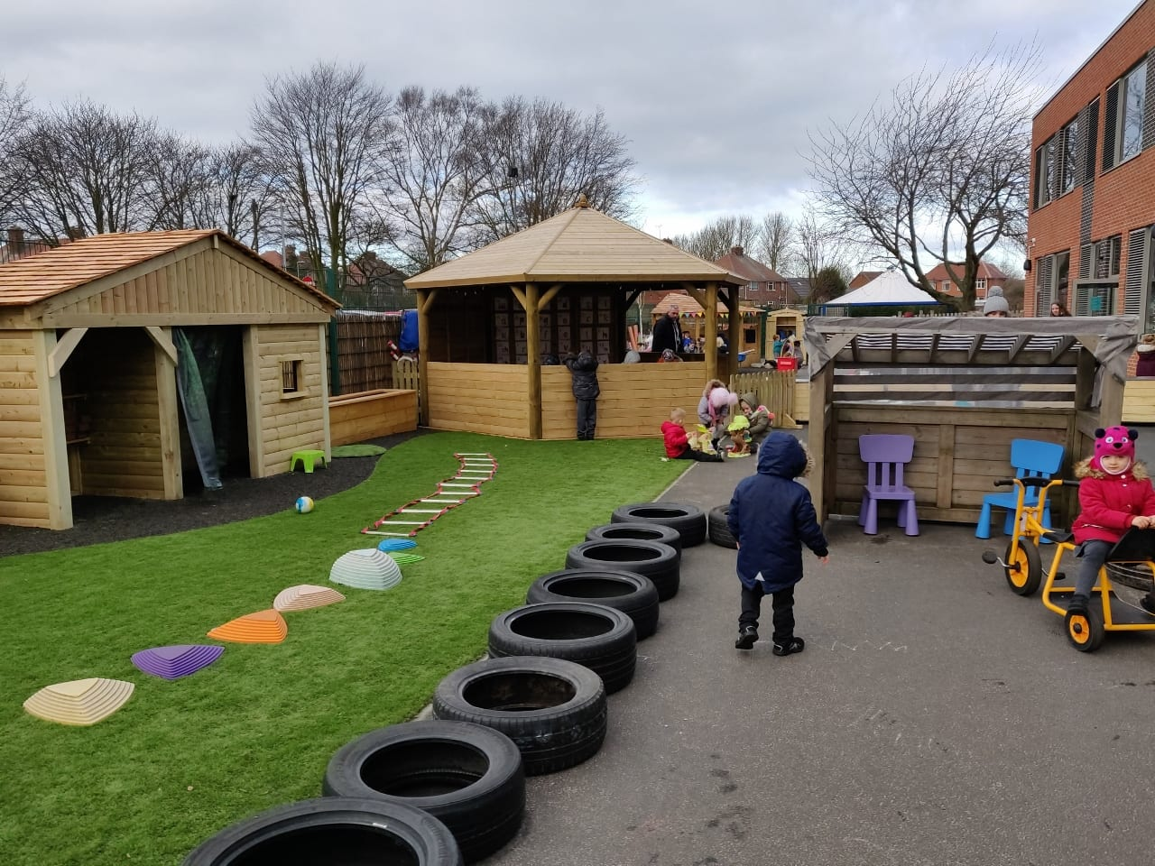 New foundation outdoor activity space opened!