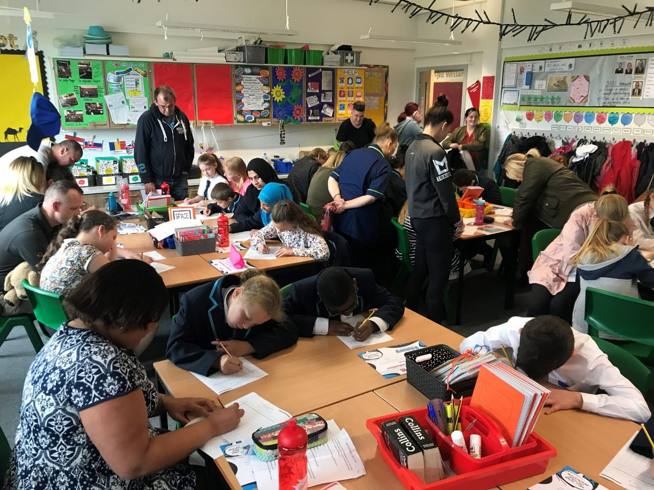 Year 5 pit their Fast Learning skills against their parents!