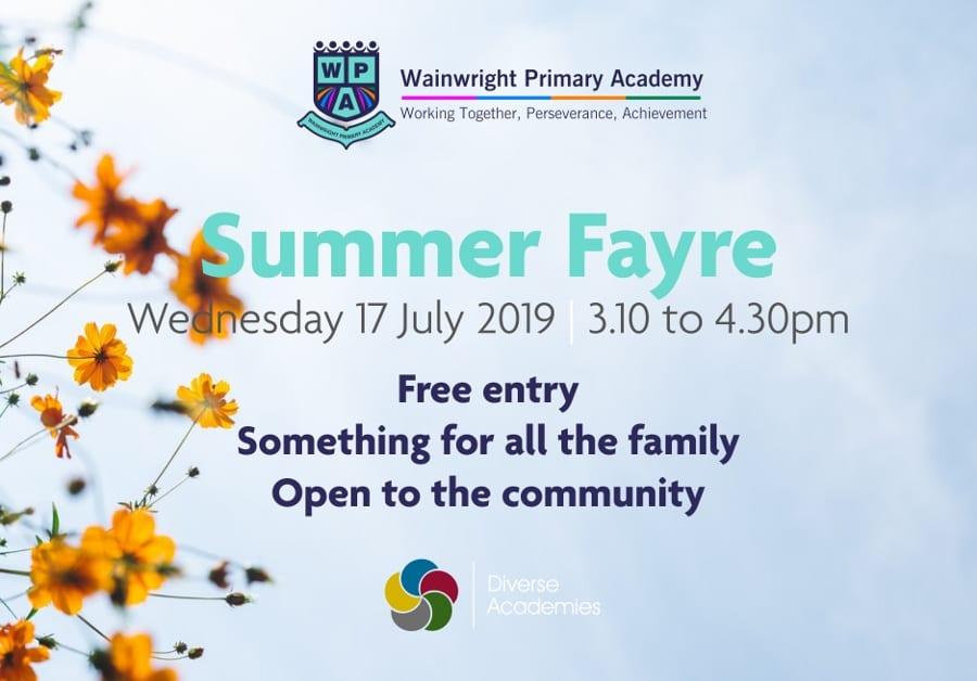 Summer Fayre – Wednesday 17 July 2019