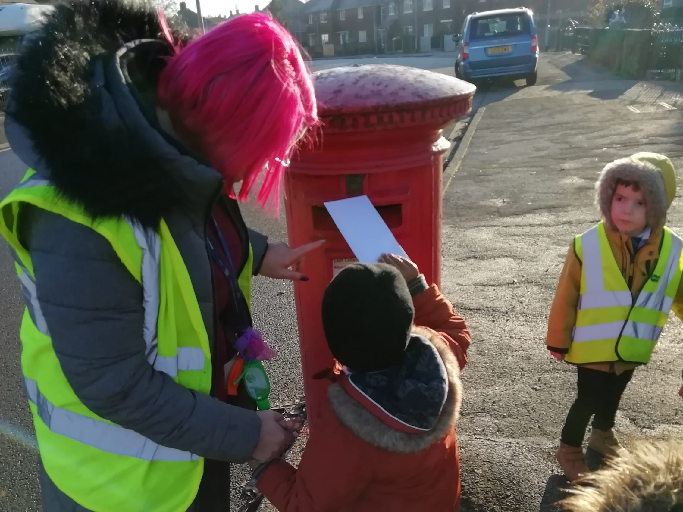 Foundation 2 pupils become 'Jolly Postmen'